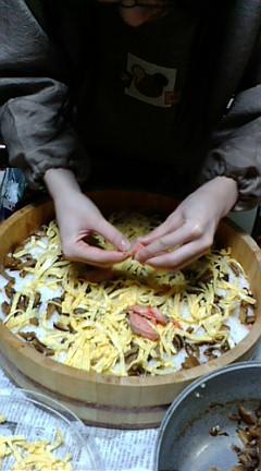 ちらし寿司作りぃ☆